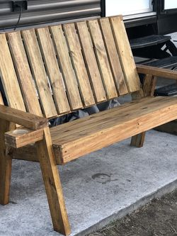 3 Set Patio Furniture All New Treated Wood 1st Bench $250 , 2nd Set 400, 3rd Axe Throwing Board $200 for Sale in Channelview,  TX