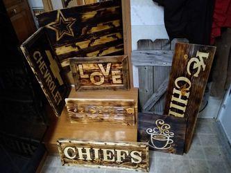 Wood burned signs for Sale in El Dorado,  KS