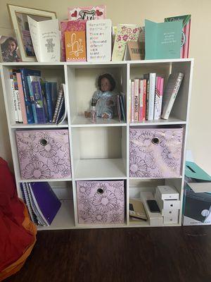 White Wayfair Cube Bookcase for Sale in Stone Mountain, GA