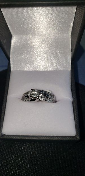 14k white gold diamond ring size 5 for Sale in Seattle, WA