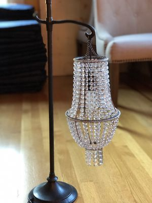 Crystal table lamp - MOVING AND MUST SELL for Sale in Seattle, WA