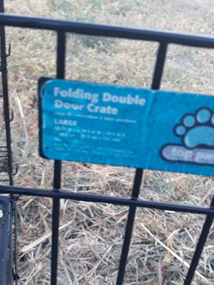 Dog cage xl folding for Sale in Sacramento, CA