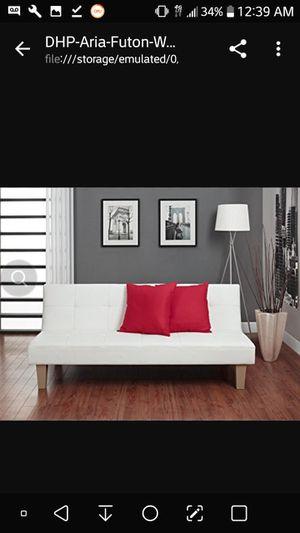 White leather futon aria for Sale in Cincinnati, OH