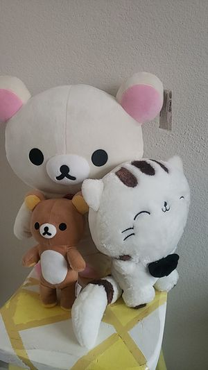 2 Rilakkuma Japanese Teddy Bears and One cat for Sale in Fort Worth, TX