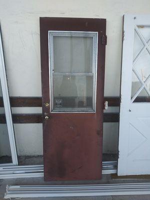 Metal exterior door with window for Sale in Fort Lauderdale, FL