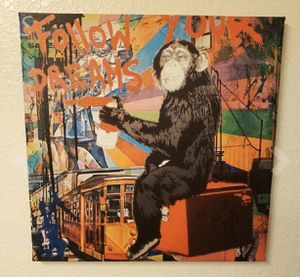NEW Graffiti Monkey Canvas Wall Art Home Decor Painting 16 x 16 for Sale in Indianapolis, IN