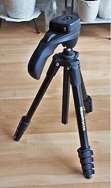 Manfrotto USED 60 inches tall compact action tripod photography camera camcorder stand black color no carrying case for Sale in Covina, CA