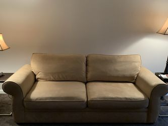 Pottery Barn Pearce Roll Arm Upholsetered Sofa (Used) for Sale in Bowie,  MD