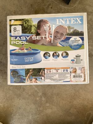 "Intex pool 8' x 30"" with pump for Sale in Fresno, CA"