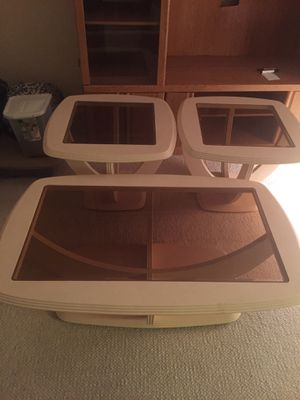 Coffee Table with 2 end tables (3 items) for Sale in Mount Laurel Township, NJ