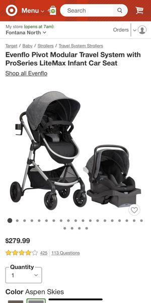 Evenflo Stroller Car Seat and Bassinet for Sale in Rancho Cucamonga, CA