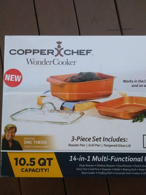 Copper Chef Wonder cooker 3 piece grill set for Sale in San Diego, CA