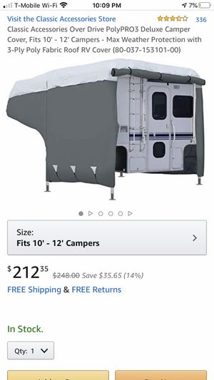 Drive poly Pro -3 deluxe camper cover fits 10–12 foot campers for Sale in Henderson, NV