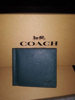 Men coach clip money Wallet for Sale in Riverside, CA