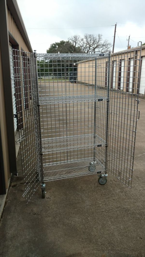 Uline locking security cage with shelves for Sale in Mansfield, TX - OfferUp