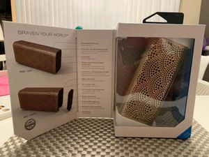 New in box Braven LUX gold edition bluetooth wireless 12 hours playtime water resistant portable speaker built-in 1400 mAh power bank to charge your for Sale in Whittier, CA