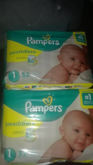 Pampers swaddleros 2 packs 64 count total $15 for Sale in BELLEAIR BLF, FL
