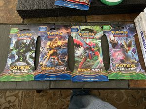 4 Pokemon booster packs for Sale in BETHEL, WA