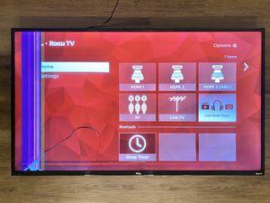 Broken TCL 50 Inch Class 4K UHD LED Roku Smart TV for Sale in Seattle, WA