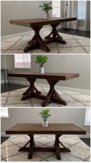 6FT x 3FT Solid Wood Rustic Farmhouse Dining Table for Sale in Tracy, CA