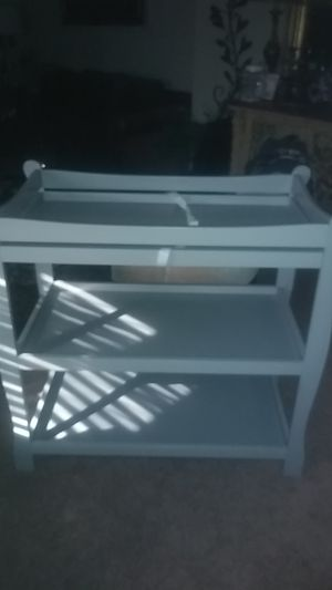 Grey Baby changing table for Sale in Grand Prairie, TX