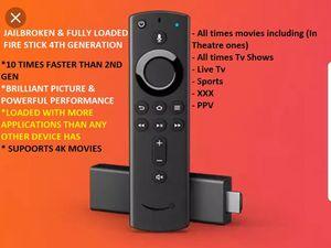 Amazon fire tv stick 4th generation (4K HDR) With New design Alexa remote for Sale in Chicago, IL
