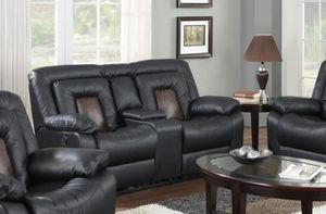 GT Cobra Blacccck Reclining Loveseat | U9900 for Sale in Ellicott City, MD