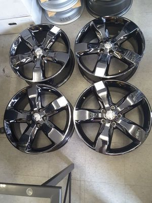 "20"" Alloy Gloss Black Wheel for Jeep Grand Cherokee 2011 2012 2013 Rim 9107 Set for Sale in Hempstead, NY"