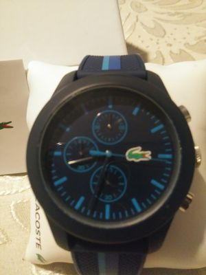 Branew lacoste watch blue 100% authentic for Sale in Washington, DC
