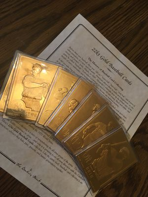 Danbury Mint 24k Gold Baseball Cards for Sale for sale  Levittown, PA