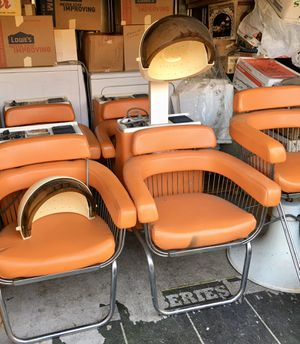 Bonet Hair Salon chairs. 1 hydraulic chair and 3 dryer head chairs. for Sale in Springfield, OR
