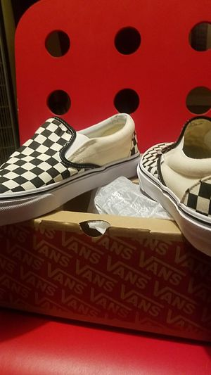 VANS classic checkerboard slip-ons size 11 for Sale in Houston, TX