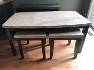 Matching Old Cannery Dining Table, 2 End Tables, and TV Stand for Sale in Spanaway, WA