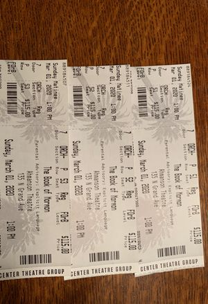 Book of Mormon tickets -3 for Sale in Claremont, CA