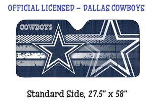 "NIP - DALLAS COWBOYS CAR""$ WINDSHIELD SUN REFLECTOR for Sale in Laurel, MD"