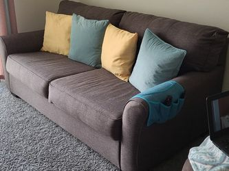 Grey With Color Pillows Couch for Sale in Berlin,  NJ