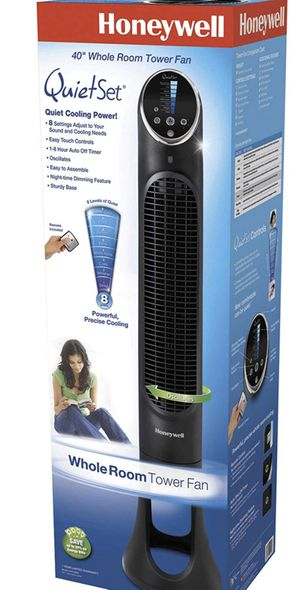 New in box - Honeywell Quiet set Tower Fan- in Black, With remote control for Sale in Newport Beach, CA