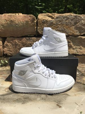 "Jordan 1 mid ""White/Grey"" for Sale in Chagrin Falls, OH"