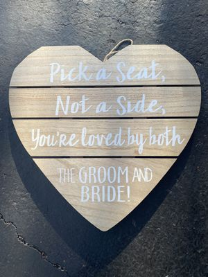 Sign - Wedding Decor for Sale in South Elgin, IL