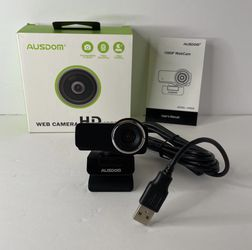 Webcam 1080P with Microphone, AUSDOM AW635 Wide Angle USB Camera, Plug and Play, for PC Monitor Laptop, Video Calling/Recording, Live Streaming for Sale in San Bernardino,  CA