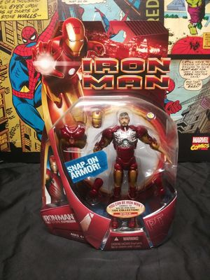 Marvel Movie Iron Man Prototype Snap-On Armor Action Figure 2008 for Sale in Oakland, CA