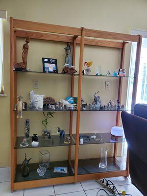 Wood Glass Bookshelve for Sale in Miami, FL