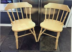Pair of Antique chairs Butter color for Sale in Dallas, TX