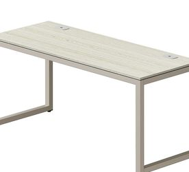SHW Home Office 55-Inch Large Computer Desk, Silver Frame W/Grey Top by EPFamily Direct for Sale in Rockville,  MD
