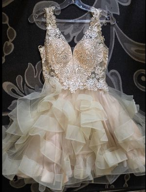 Prom or 15 dress 👗 beige color for Sale in Bell, CA