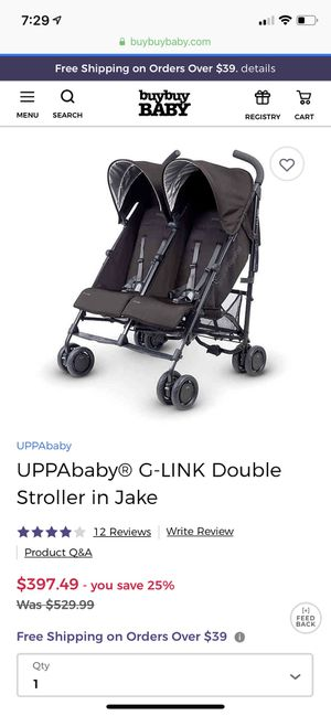 Uppababy GLink Double Stroller g-link for Sale in Goodyear, AZ