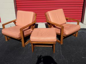 Mid Century scandinavian lounge chairs and ottoman for Sale in Tampa, FL
