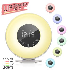 Sunrise Alarm Clock, Wake up Light 6 Nature Sounds, FM Radio, Color Light, Bedside Sunrise Simulator,Touch Control for Heavy Sleepers for Sale in Boca Raton, FL