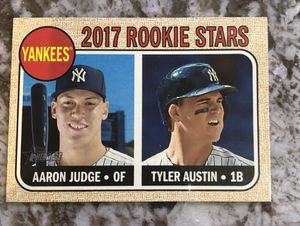 AARON JUDGE AND TYLER AUSTIN 2017 TOPPS HERITAGE #214 ROOKIE STARS. for Sale for sale  Hackensack, NJ