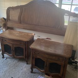 Estate Sale: Headboard With Two End Tables $50 for Sale in Torrance,  CA